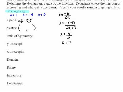 Graphing Quadratic Functions Without Calculator Part 1 43 Youtube