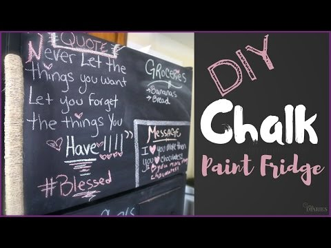 CD-DIY Chalk Paint Fridge