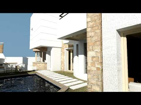 Ellouze architecture and design tunis tunisie villa el for Architecture de maison en tunisie