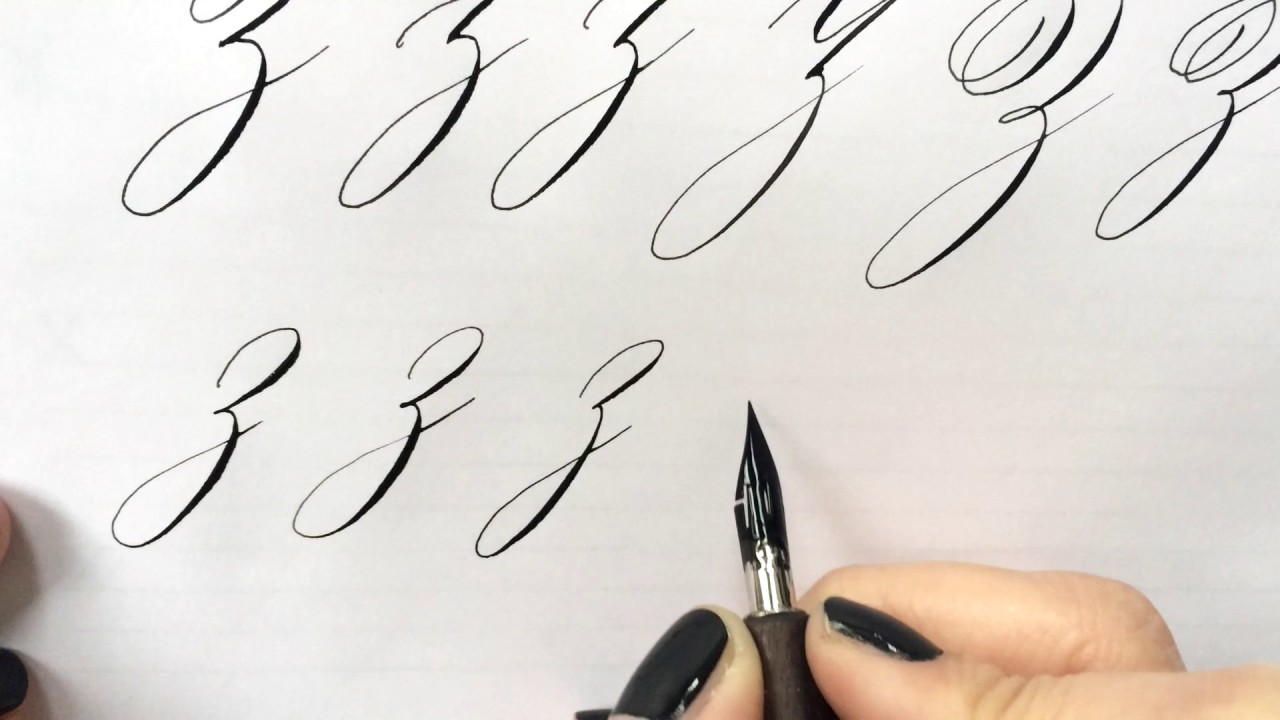 Modern calligraphy letter quot z youtube