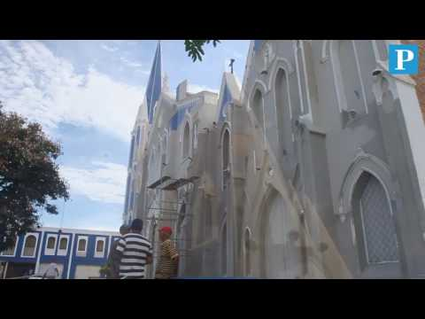 Refaccionan iglesia Santa Bárbara