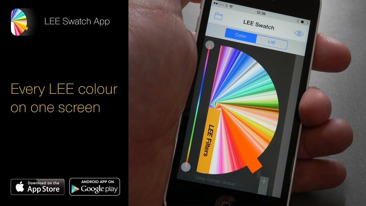 LEE Swatch - Lighting App for iPhone and Android