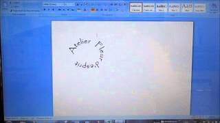 Comment faire un texte en rond avec WORD