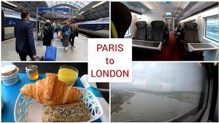 Eurostar Paris to London via underwater tunnel, First Class train trip 4K