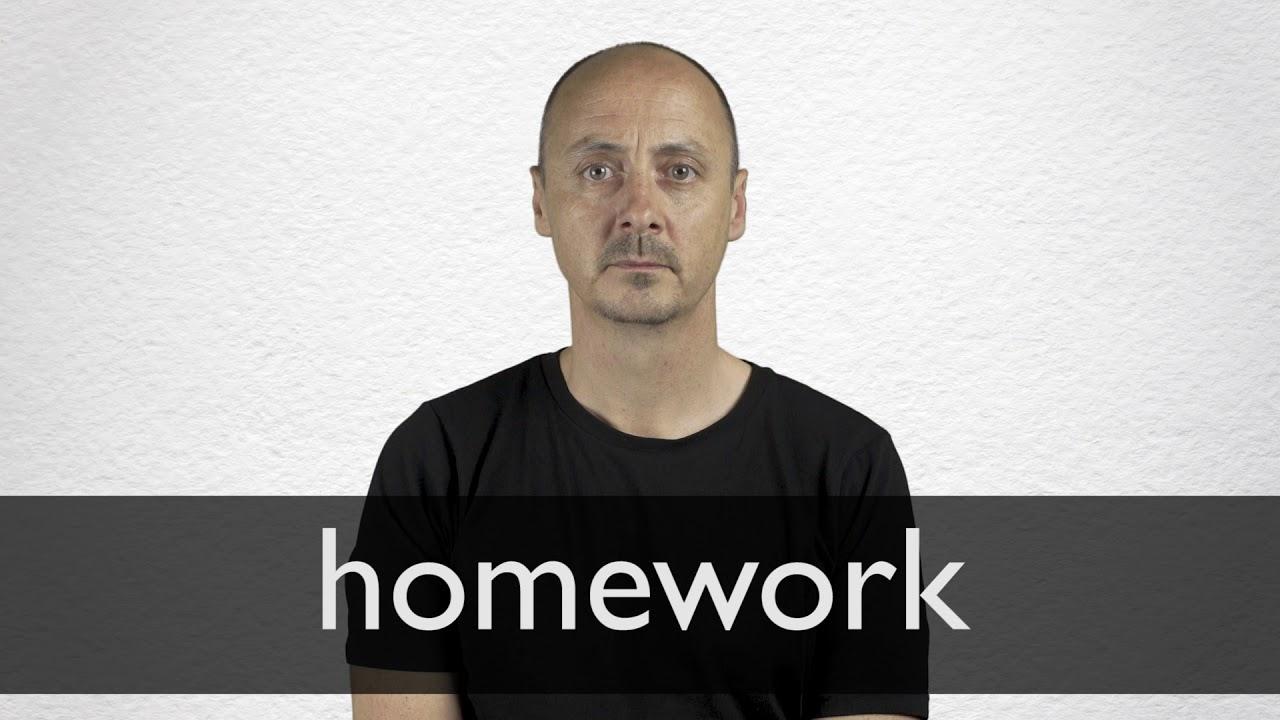 Homework Definition und Bedeutung  Collins Wörterbuch