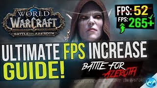 🔧 World Of Warcraft: Dramatically increase performance / FPS with any setup! Video