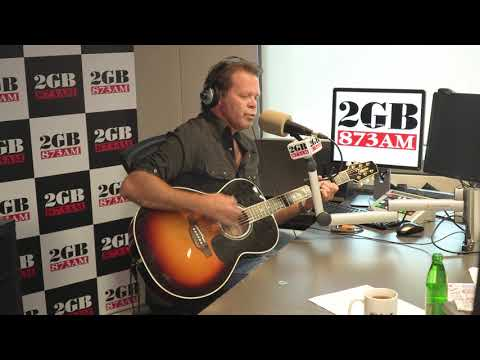 Troy Cassar-Daley performs for Ray live in studio
