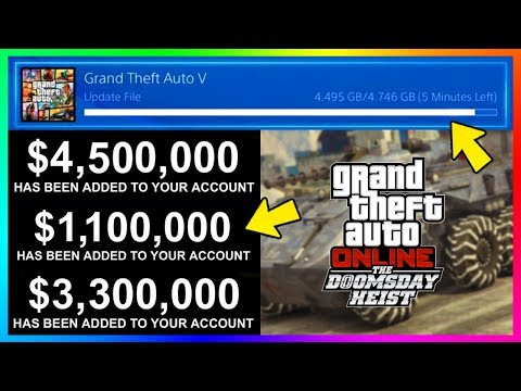 GTA Online The Doomsday Heist DLC Release Time, Early Content, Free Money, Update Details & MORE!