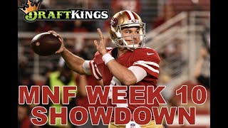 Week 10 NFL Monday Night Football DraftKings Showdown Picks Giants-Niners - Awesemo.com