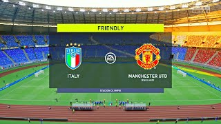 FIFA 22 Italy vs Manchester United Friendly Match Full Gameplay