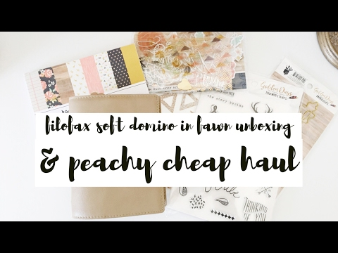Filofax Soft Domino Planner In Fawn Unboxing & Peachy Cheap Haul