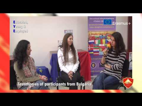 Testimonies of participants from Bulgaria - EYE Educated Young Employed