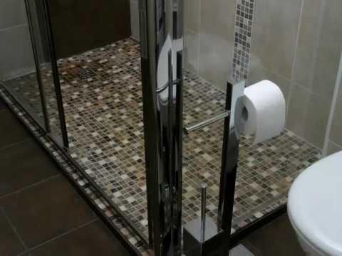 salle de bains amenagement agencement douche a l italienne toilettes suspendues ouistreham wmv