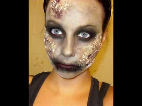 halloween series 2011 zombie makeup tutorial  youtube