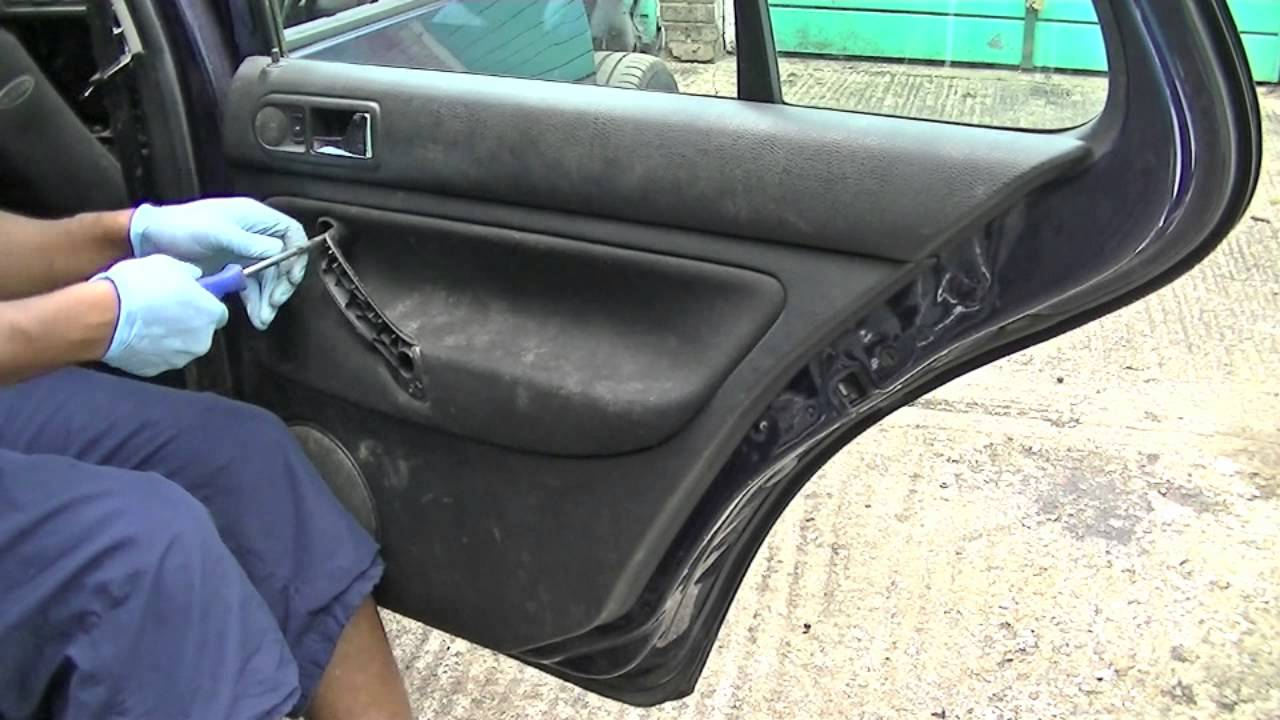 vw golf jetta rear door panel removal [ 1280 x 720 Pixel ]