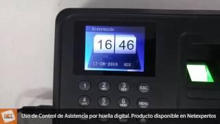 Reloj Control de Asistencia Biométrico - Carga y descarga datos