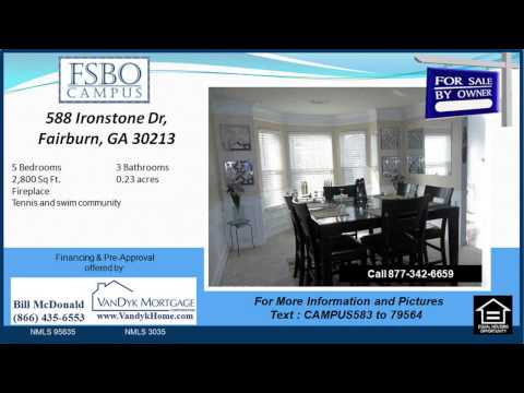 5 bedroom home for sale near Stonewall Tell Elementary School in Fairburn GA
