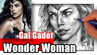 How to Draw Wonder Woman - Gal Gadot