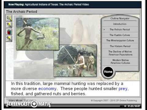 Agricultural Indians of Texas - The Archaic Period