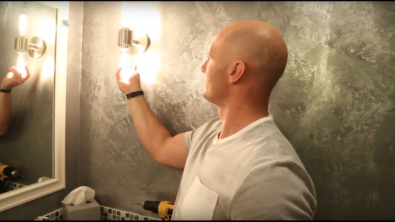 How To Install A Wall Mounted Light Youtube Two Fixture Socket Wiring Diagram
