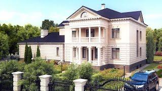 Классический двухэтажный особняк  - проект дома(Виртуальный тур по дому в классическом стиле. http://www.topdom.info/rl8.php - детали проекта, фото фасадов, дизайн интерь..., 2011-05-11T17:21:22.000Z)