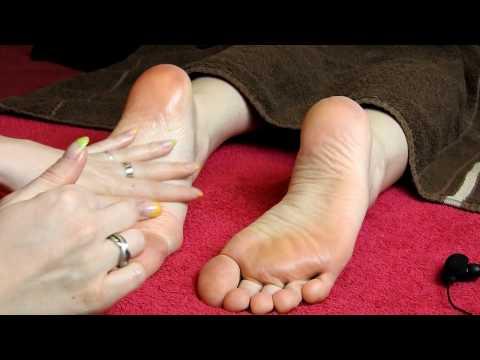 Feet scratching, salt massage, part 2*ASMR