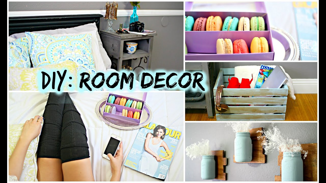 Diy room decor for cheap tumblr pinterest inspired youtube Home decor ideas bedroom pinterest