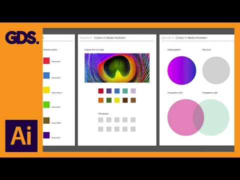 Using Colour | Swatches | Pantone's | Gradients & more Ep6/19 [Adobe Illustrator for Beginners]