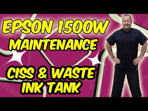 My Epson 1500W Printer Maintenance CISS For T Shirt Transfer Printing Biz