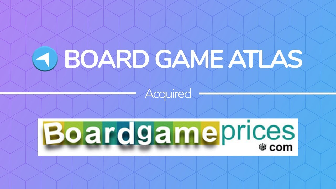 Board Game Atlas Acquires Board Game Prices