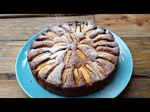 Apple Cake With Marzipan