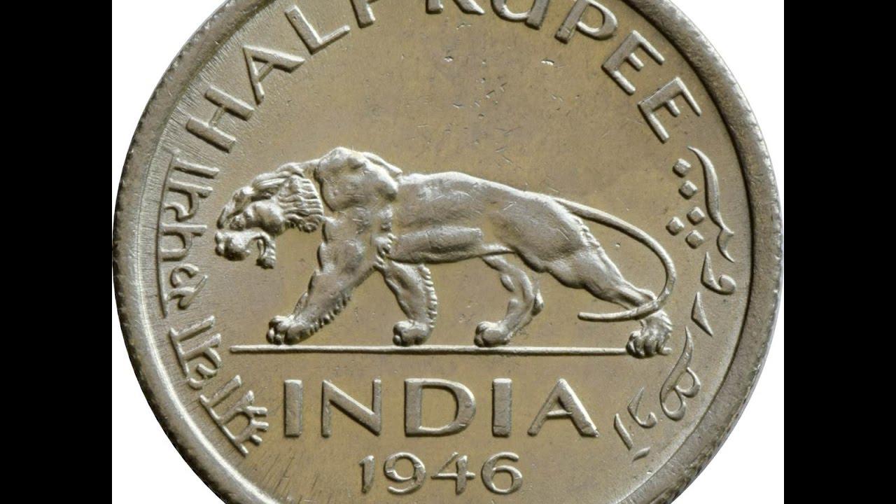 1946 Rare Indian Half Ruppes Coin With Valuejai Hind Jai Bharat