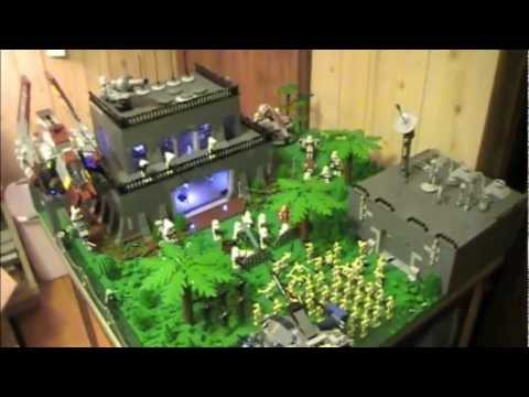 Lego Star Wars Clone Base On Endor With Lights Youtube