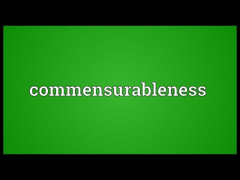 Header of commensurableness