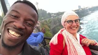 Kwaku Manu visited  Niagara Water Falls at Canada and USA boarder
