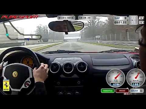 Giro di pista su Ferrari F430 a Monza