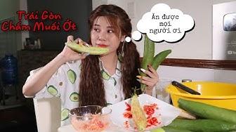 Nana Liu Lần Đầu Tiên Ăn Thử Trái Gòn Non , Chấm Muối Ớt Hót Rần Rần Trên Mạng