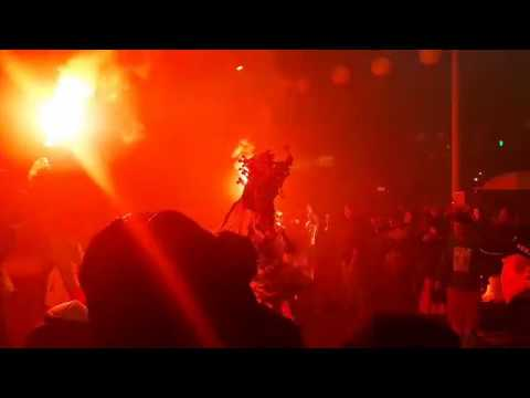 Eerie Torchlit Night Performance at Qingshangong Temple Festival in Taipei