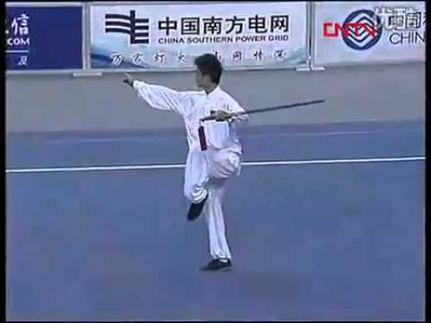 Asian Games Gold Medal in Men's Taiji Jian by Wuyanan