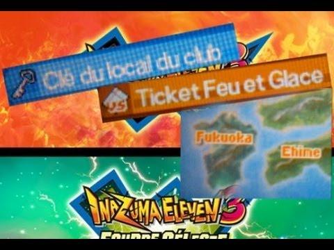 3DS - IE3 : Comment avoir la clé du local du club, le ticket Feu et Glace et la carte de Fukuoka