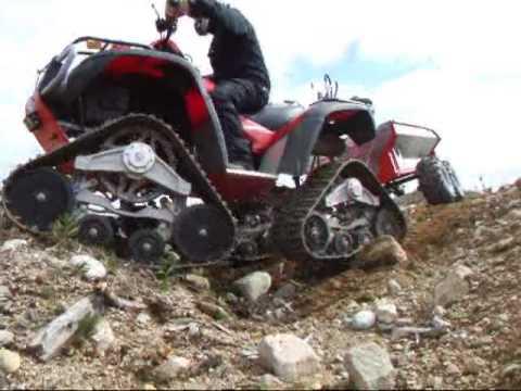 Mönkijän kärryssä hydrauli kippi ATV-EXPERT (hydraulic tipping)