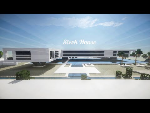 Minecraft modern sleek house build review youtube Sleek homes that are unapologetically modern