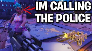 Scammer straight up calls the police on me! 😞🚓 (Scammer Get Scammed) Fortnite Save The World
