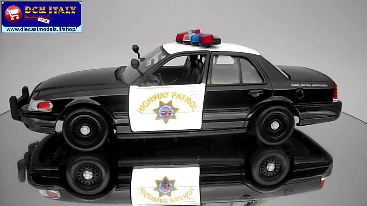 Ford crown victoria 2010 california police motormax 1 24