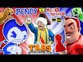 HELLO NEIGHBOR BEDTIME STORY Pt 2 TABS PETITION  BENDYS vs. MART w MINECRAFT FGTEEVTHE END