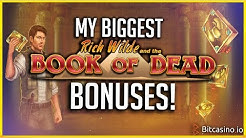 My Biggest Book Of Dead Slot Wins! | Bitcasino Gambling #2