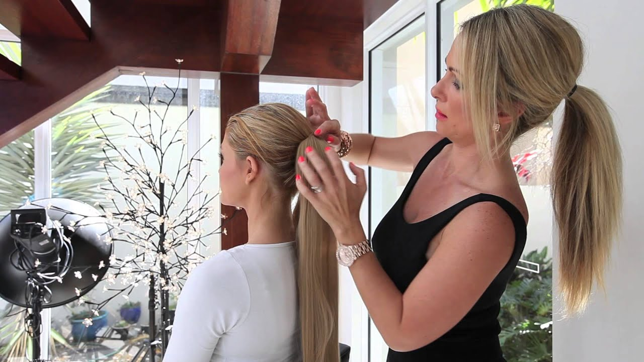 Tutorial Quickly Attach A Wrap Around Ponytail Hair Extension