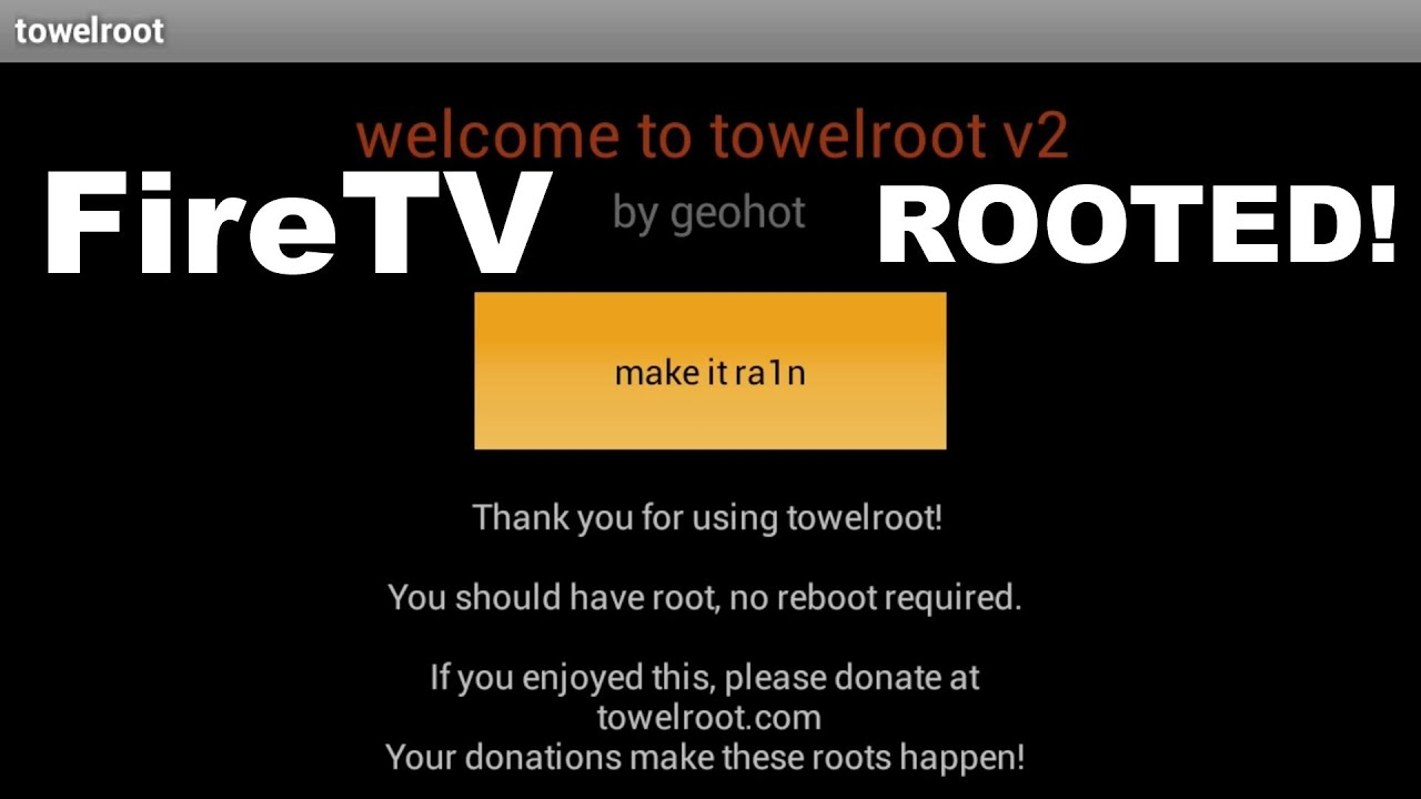 How To (One Click) Root the Amazon Fire TV (FireTV)!
