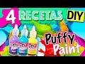 Pintura INFLABLE Casera 3D * 4 recetas PUFFY PAINT DIY