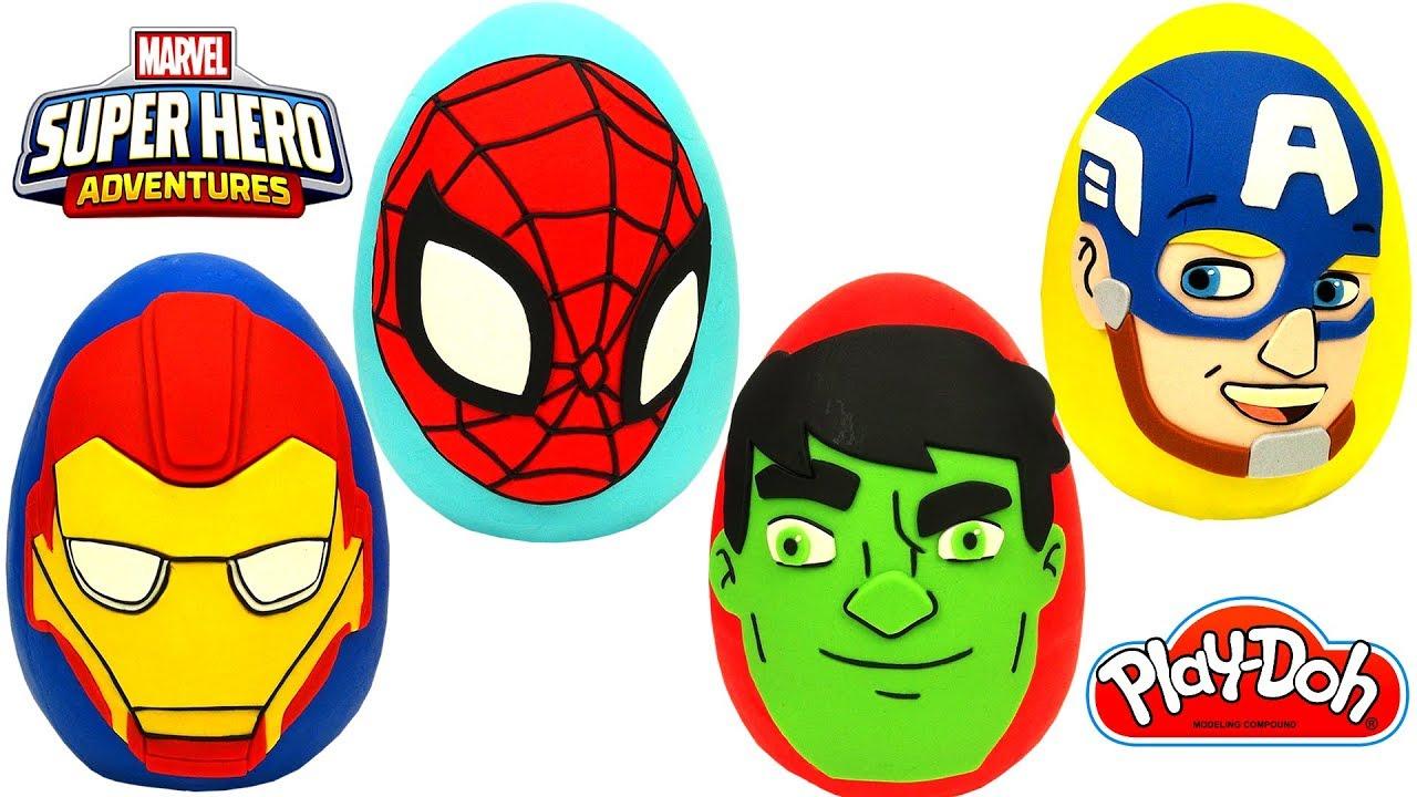 Download Marvel Süper Kahramanları Sürpriz Yumurtaları Hulk Örümcek Adam Kaptan Amerika Iron Man
